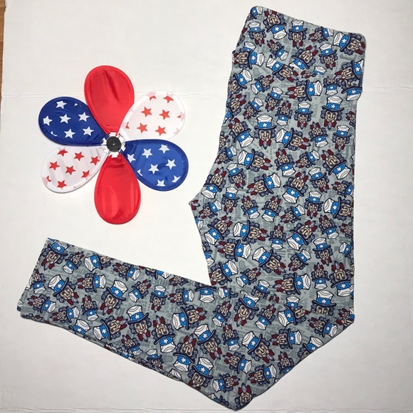 LuLaRoe Pants - LULAROE Uncle Sam Leggings